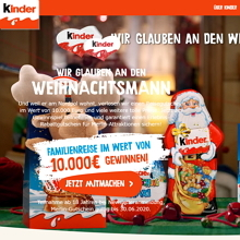Kinder Schokolade Adventskalender