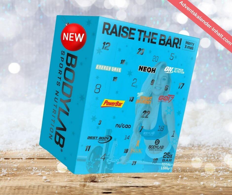 Bodylab24 Raise the Bar! Riegel Adventskalender