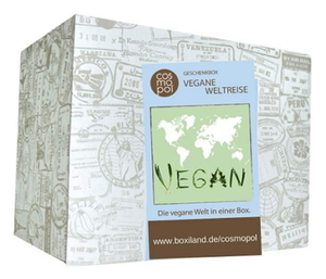 Vegane Weltreise Geschenkbox