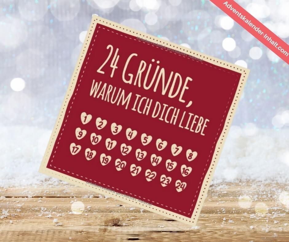 """Adventszeitkalender """"24 Gründe, warum ich dich liebe"""" (1)"""