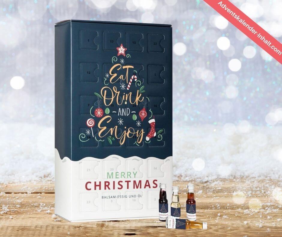 Balsamessig und Olivenöl Adventskalender