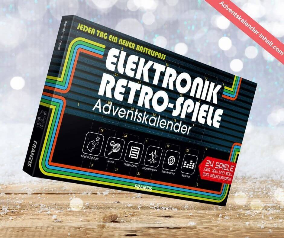 Elektronik-Retro-Spiele Adventskalender