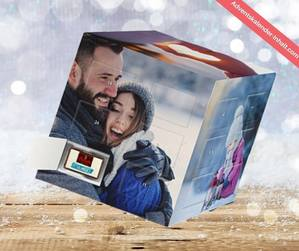 """Foto-Weihnachtskalender """"Würfel"""" mit 5 Bildern selbst gestalten"""