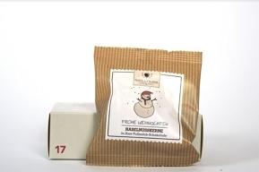 Haselnusskerne in Zimt-Vollmilch-Schokolade