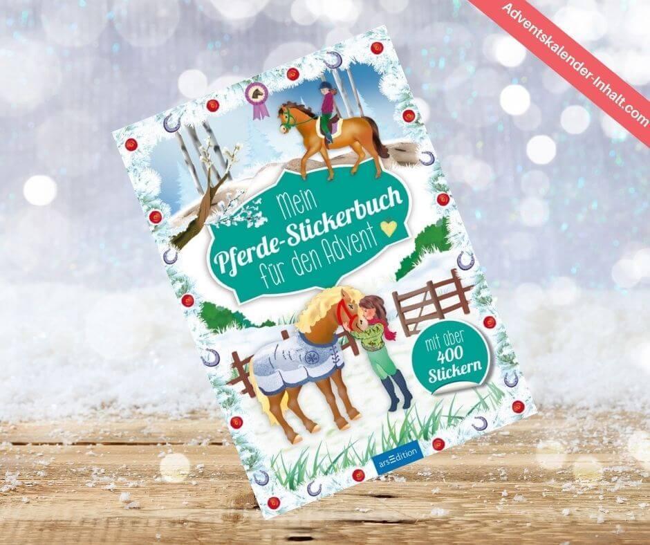 Pferde-Stickerbuch Adventskalender