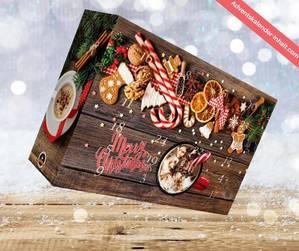 Weihnachts-Kalender mit aromatisierten Kaffee