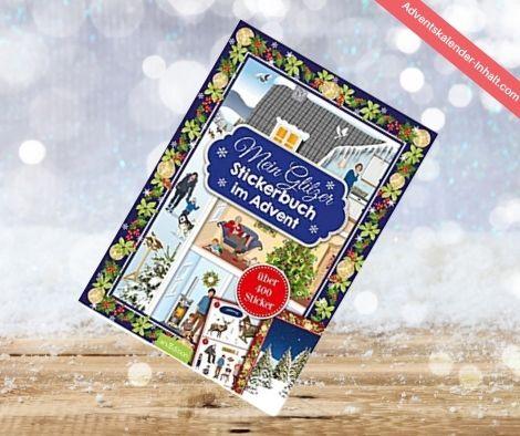 Glitzerstickerbuch Adventskalender
