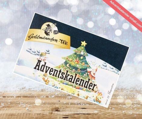 Goldmädchen Tee Geschenkkalender